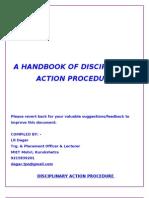 Dispciplinary Action by LR Dagar