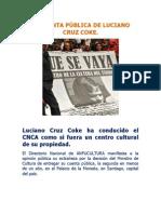 LA CUENTA PÚBLICA DE LUCIANO CRUZ COKE