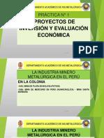 práctica N°1 proyectos de evaluacion economica