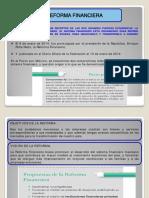 Presentación reformas financiera y  fiscal Enrique Peña Nieto 2012-2018