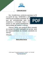 COLEIRAS - PAPEL TIMBRADO