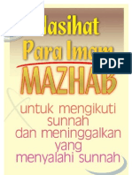 Nasihat Para Imam Mazhab untuk Mengikuti Sunnah