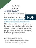 ANUALIDADES ORDINARIAS MATE FIN 2020