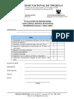 EVALUACION DE EXPOSICIONES, CASO CLINICO, REVISTA DE REVISTAS