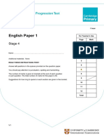 2011 Cambridge Primary Progression Tests English Stage 4 QP Paper 1