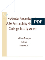 No Gender Perspective in the ADB's Accountability Mechanism_SP_2011