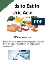 foods to eat in uric acid