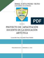PROYECTO DE CAPACITACIÓN DE EDUCACIÓN ARTÍSTICA DOCENTE