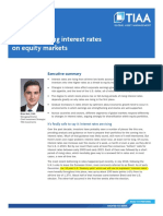 Impact of rising interest rates on equity markets