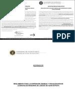 Reglamento Para La Expedición Manejo y Fiscalización de Licencias de Máquinas de Juegos de Azar en Ruta 9175