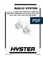 HYDRAULIC SYSTEM (FIRST USED ON 1529, 1533 UP TO 1562, 1564, 1565 AND 1569)
