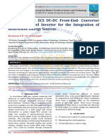 An Multi-Input ZCS DC-DC Front-End- Converter Based Multilevel Inverter for the Integration of Renewable Energy Sources