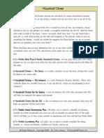 Household Chore Lists