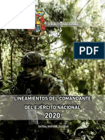 LINEAMIENTOS DEL COMANDANTE DEL EJERCITO NACIONAL 2020.pdf
