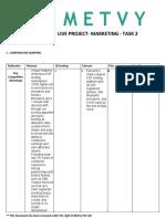 MARKETING - LIVE PROJECT - METVY - TASK 2.docx