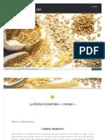 La Dieta Ancestrale – I cereali