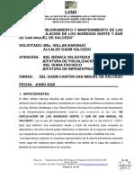 Informe Evaluacion Capa de Rodadura Canton Salcedo