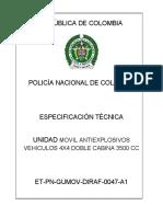 FORMATO NUEVO VEHICULO EXPLOSIVOS 4X4 PICK UP 3500 CC