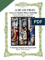 V Domingo Después de Pentecostes. Guía de la santa misa cantada. Kyrial Orbis Factor