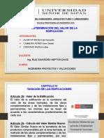 DETERMINACIÓN DEL VALOR DE LA EDIFICACIÓN - GRUPO 01