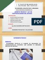 EXPEDIENTE TECNICO Y LEY DE CONTRATACIONES DEL ESTADO - GRUPO 01