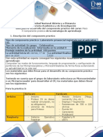 Guía para el desarrollo del componente práctico y rúbrica de evaluación - Unidad 3 - Paso 5 - Componente práctico
