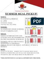 Summer Meal Program Flyer