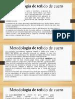 metodologia de teñido de cuero