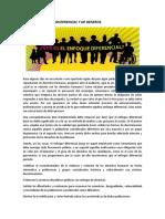 TALLER ENFOQUE DISFERENCIAL Y DE GENEROS