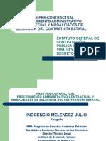 FASE PRECONTRACTUAL-MODALIDADES DE SELECCION