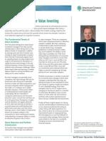 Key Success Factors for Value Investing