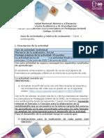Guia de actividades y Rúbrica de evaluación Tarea 1 - Autobiografía