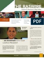 Raswire Newsletter Winter 2011