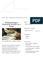 5 easy steps to summarize a research article