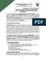 CONTRATO N° 145 PROYECTISTA PARA ELABORACION DE EXPEDIENTES TECNICOS