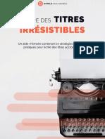 Checklist-Ecrire-Titres Irrésistibles