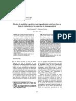 Diseño de medidas repetidas con dependencia serial en el error bajo violacion de la asuncion de homogeneidad
