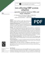 Factors Affecting ERP System Adoption