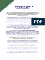 COSTO PONDERADO DE CAPITAL Y LA TASA DE RENTABILIDAD