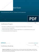 Alteryx Product Certification