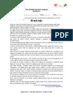 Guía de Reforzamiento Lenguaje 6to.