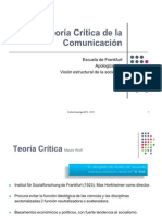 Teoría de la Comunicación - Escuela Crítica