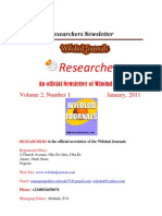 Researchers Newsletter