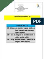 8° B CALENDÁRIO DAS ATIVIDADES