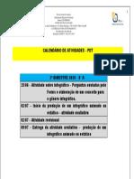 8° A CALENDÁRIO DAS ATIVIDADES
