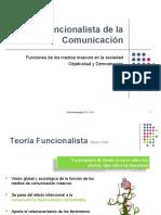 Teoría de la Comunicación - Escuela Funcionalista
