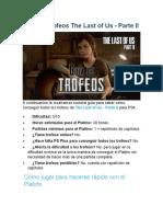 Guía de trofeos The Last of Us Parte II