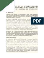 La Creación de La Superintendencia Nacional de Fiscalización Laboral y Su Incidencia en Materia de Inspección Laboral