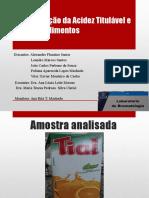 Bromatologia 2-acidez e pH