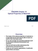Optics Lecture